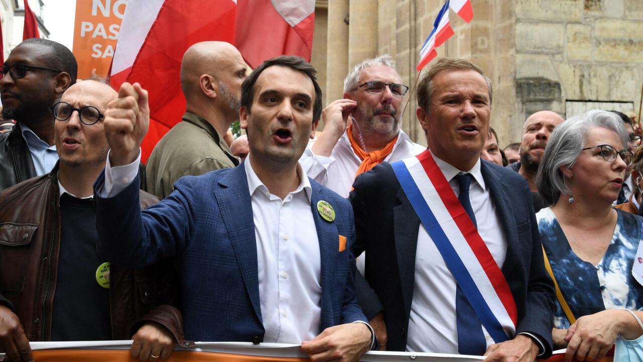 Florian Philippot et Nicolas Dupont-Aignan, les pyromanes du mouvement antivax et anti-passe