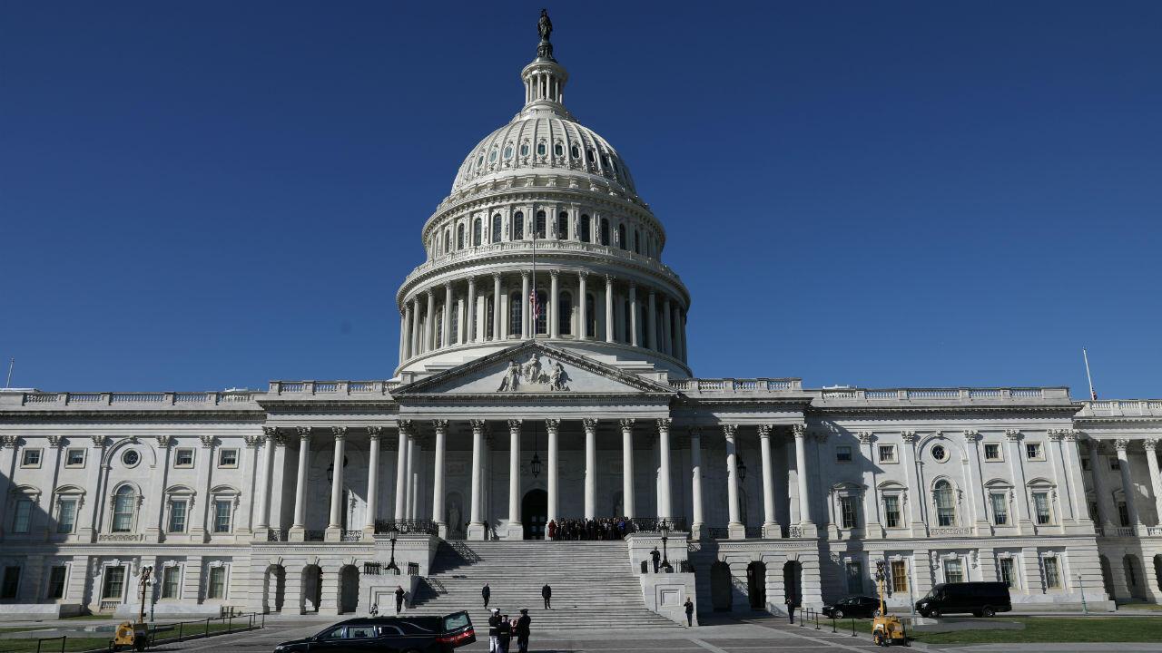 Imagen panorámica del edificio del Capitolio en Washington D. C., Estados Unidos, el 24 de octubre de 2019.