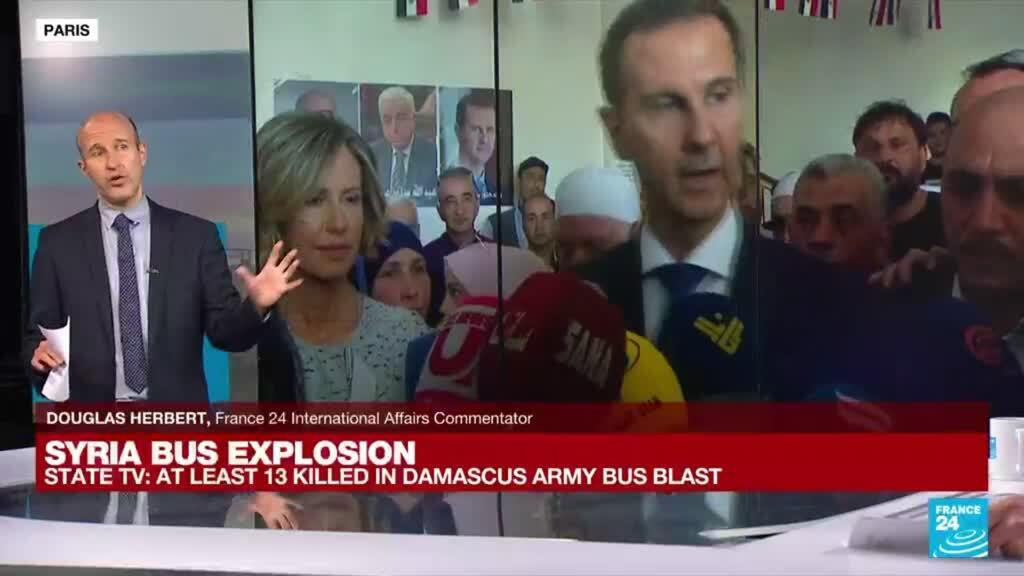 2021-10-20 09:02 Syria bus explosion: At least 13 killed in Damascus army bus blast