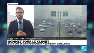 """2021-04-22 07:03 Sommet pour le climat : États-Unis et Chine """"s'engagent à coopérer"""" sur la crise"""