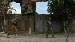 جنود أمريكيون في منطقة خوياني بولاية ننغرهار شرق افغانستان