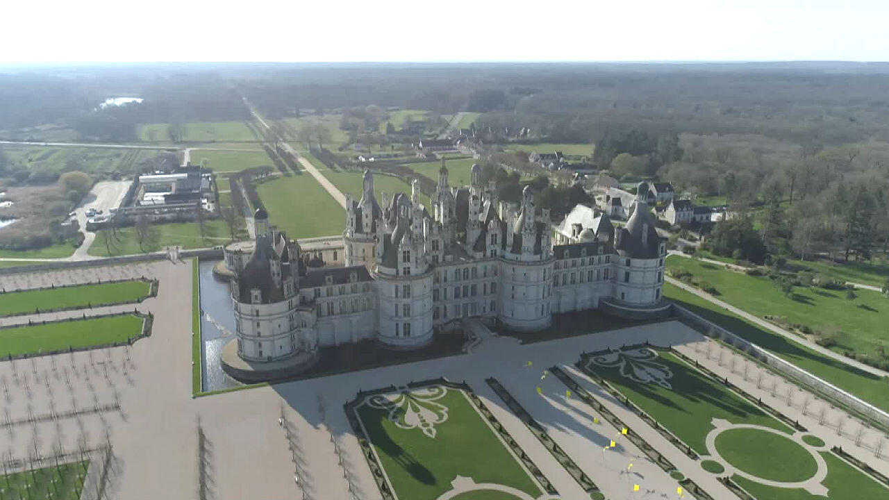 Overview of Chambord Castle, the largest of France's Loire Valley chateaux.