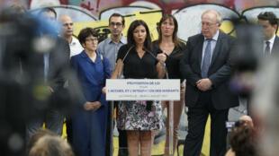La maire de la capitale, Anne Hidalgo, souhaite proposer un projet de loi sur la gestion des migrants au gouvernement d'Emmanuel Macron, le 6 juillet 2017.