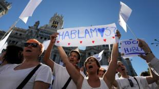 Más de 50.000 personas se reunieron en Madrid para manifestarse a favor de la unidad de España.