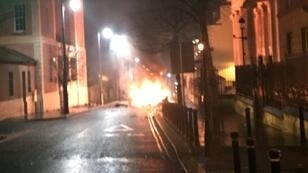 The Police Service of Northern Ireland tweeted a photograph of a suspected car bomb outside a courthouse in Londonderry, warning that evacuations were taking place due to a second suspect vehicle in the city