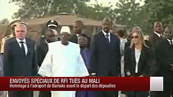 Cérémonie d'hommage à Claude Verlon et Ghislaine Dupont à Bamako