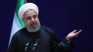 Sans le nommer, Hassan Rohani a critiqué, samedi 28 janvier, la politique de Donald Trump.