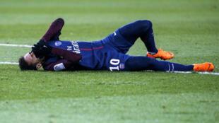 Neymar s'est blessé à la cheville le 25 février, à l'occasion d'un PSG-OM en Ligue1.