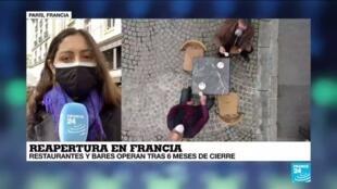 2021-05-19 14:40 Informe desde París: Francia abre sus tradicionales terrazas, primera señal de la reapertura