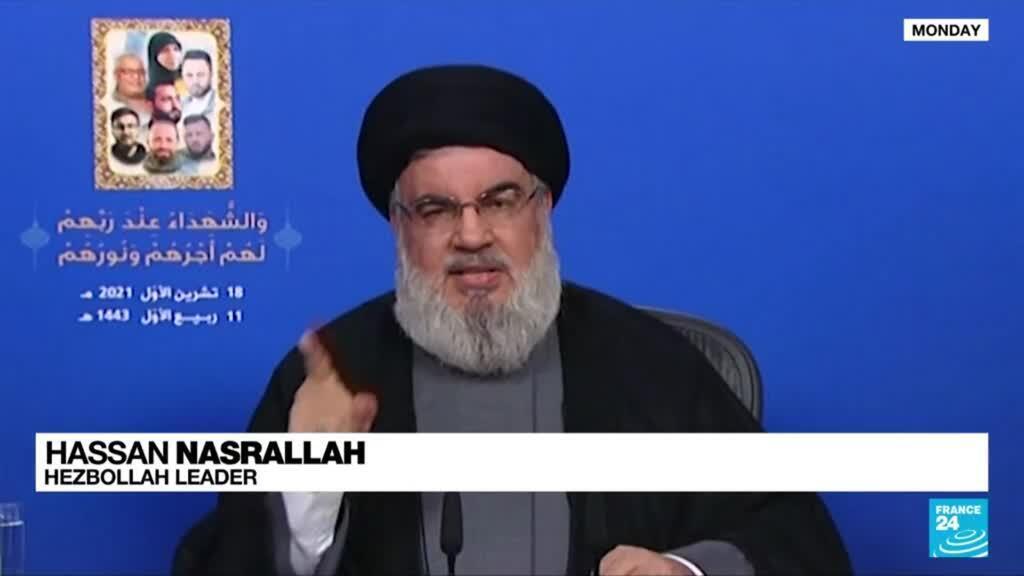 2021-10-19 08:05 Hezbollah's Nasrallah says Beirut violence was a dangerous development