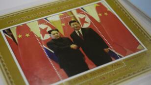 Postal de recuerdo de un encuentro previo entre Kim Jong-Un y Xi Jinping. Pyongyang, 20 de junio de 2019.