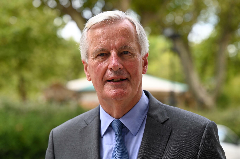 Michel Barnier, candidat à l'investiture LR pour la présidentielle, le 9 septembre 2021 à Nîmes