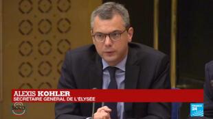 Le secrétaire général de l'Élysée, Alexis Kohler devant la commission des lois du Sénat, le 26 juillet 2018.