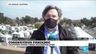 2021-02-17 10:12 Coronavirus pandemic: California opens two mass vaccination sites