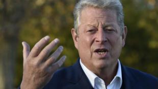 Al Gore, prix Nobel de la paix en 2007 avec le Giec (Groupe d'experts intergouvernemental sur l'évolution du climat), à Paris le 13 novembre 2015.
