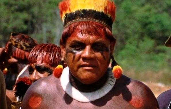 Imagen de archivo del rey de la región amazónica de Xingú, Aritana Yawalapiti.