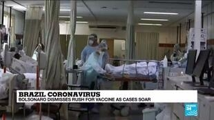 2020-12-21 10:07 Brazilian president says pandemic nearing end, despite record new cases