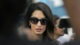 المحامية أمل كلوني زوجة الممثل الأمريكي جورج كلوني في المالديف