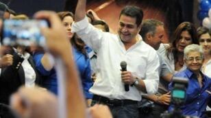 Juan Orlando Hernandez, le candidat de droite à la présidentielle.