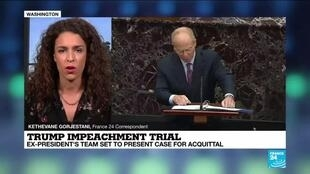 2021-02-12 16:01 Trump impeachment trial shifts to his defense