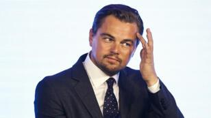 """Leonardo DiCaprio en conférence de presse en Chine pour son film """"The Revenant""""."""