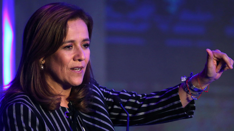 Margarita Zavala, abogada y miembro del Partido de Acción Nacional (PAN), habla durante Forbes Forum 2017 en Ciudad de México, México, 18 de septiembre de 2017.