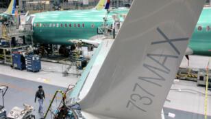 Une aile du  737 MAX , photographiée à l'usine Boeing de Renton, dans l'État de Washington.