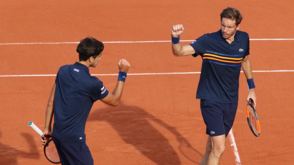 Pierre-Hugues Herbert et Nicolas Mahut, vainqueurs de Roland-Garros 2018.