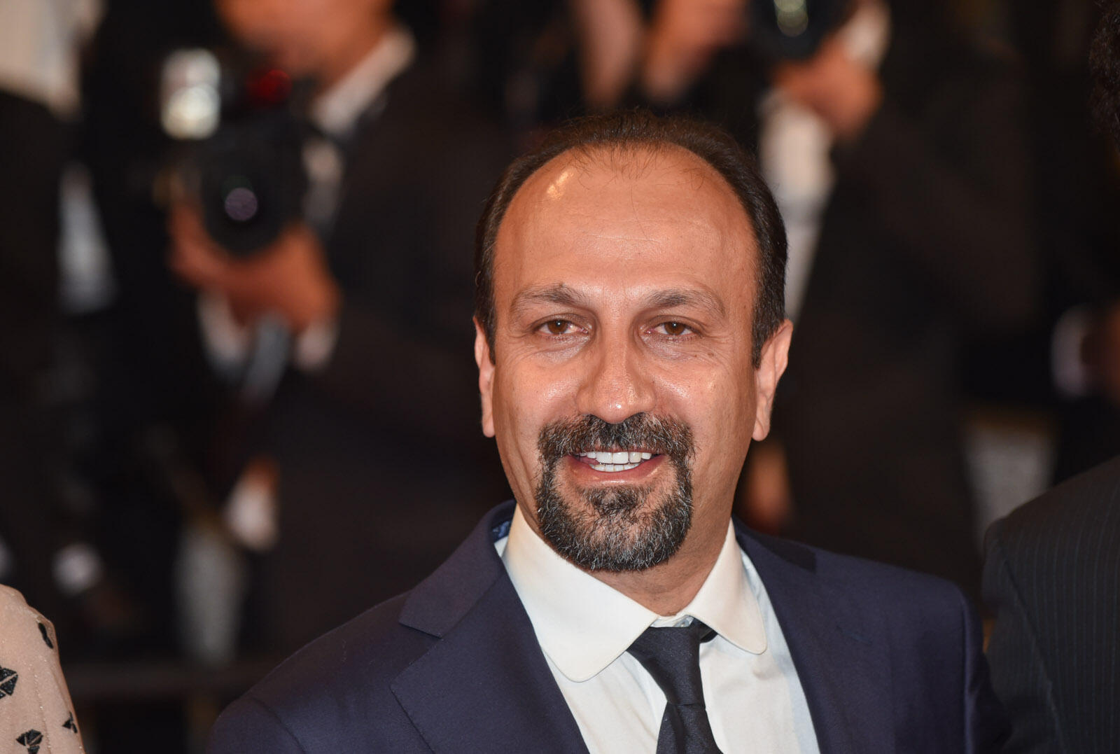 "Iranian director Asghar Farhadi arrives for the premiere of his film ""The Salesman"", a drama of damaged pride and revenge, presented in official competition."