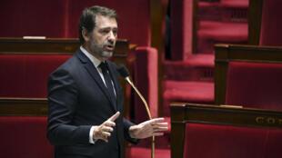 Le ministre de l'Intérieur Christophe Castaner s'exprime à l'Assemblée nationale à Paris le 7 avril 2020