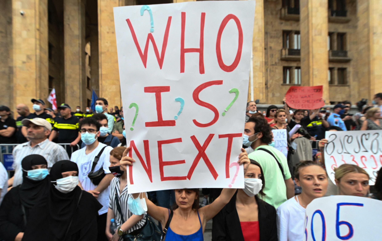 Georgia-demonstrators