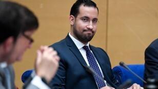 Alexandre Benalla lors de son audition devant une commission d'enquête du Sénat à Paris, en septembre 2018.