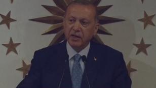 الرئيس التركي رجب طيب أردوغان يعلن فوزه في الانتخابات الرئاسية. 24 حزيران/يونيو 2018