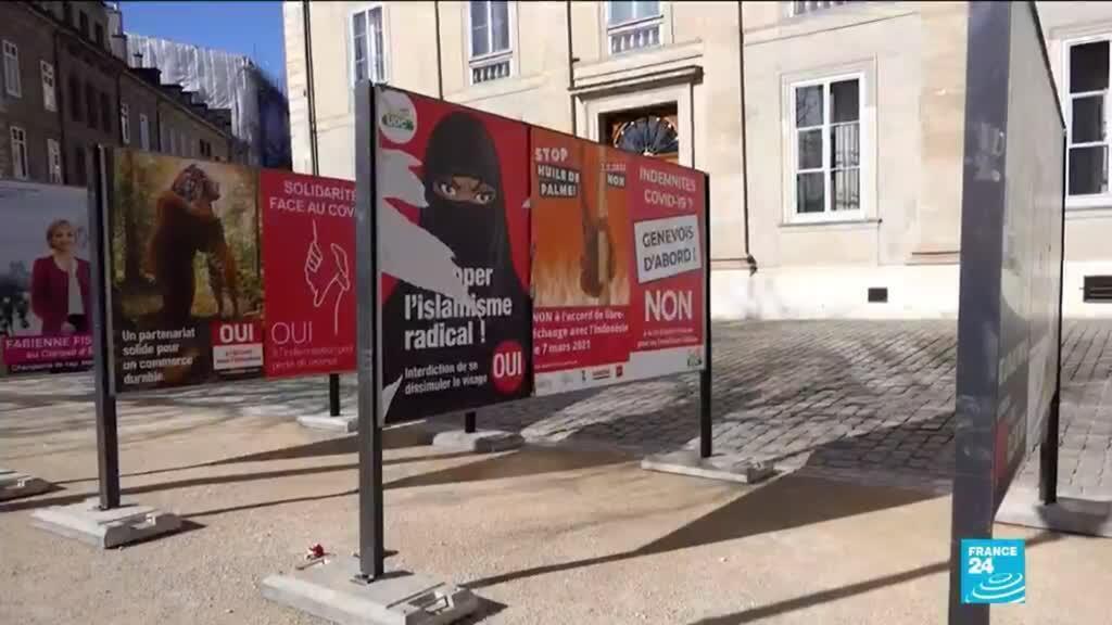 2021-03-07 08:11 Les suisses votent sur l'interdiction du voile intégral