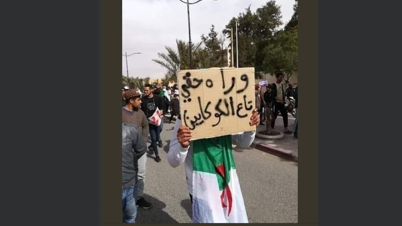 لافتات مثيرة للضحك في المظاهرات بالجزائر