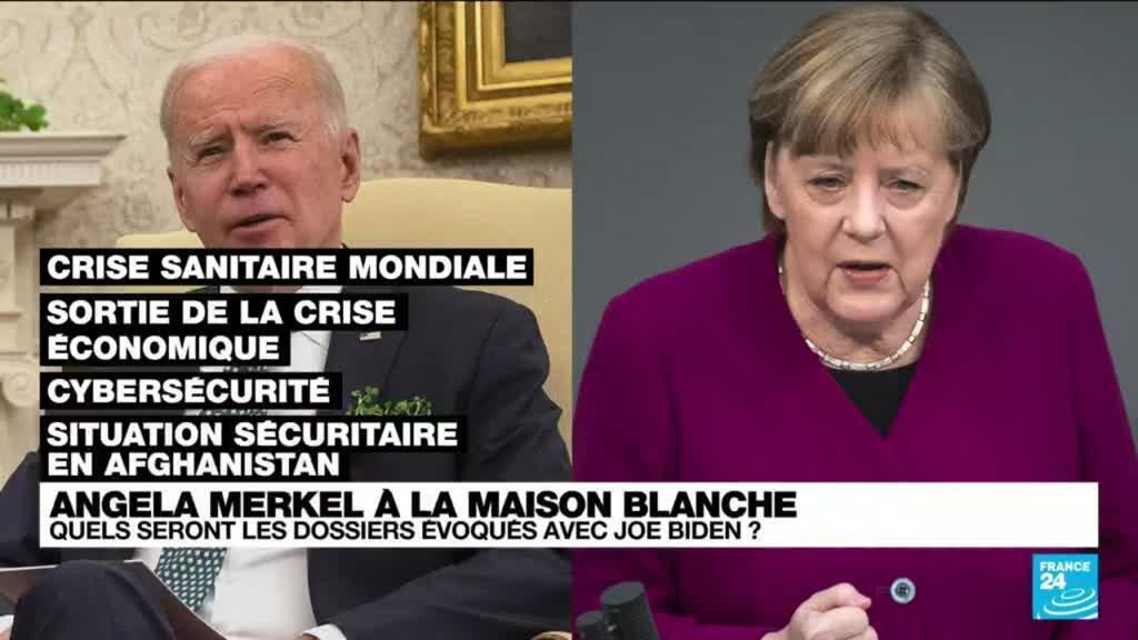 2021-07-15 12:02 Angela Merkel reçue à la Maison Blanche, Joe Biden consolide la relation avec Berlin