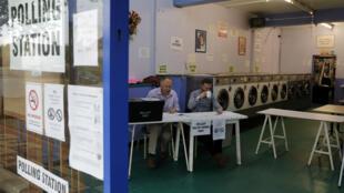 مكتب التصويت في أحد المراكز الانتخابية