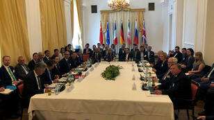 Representantes de los países firmantes del acuerdo nuclear con Irán se reúnen en Viena, Austria, el 28 de julio de 2019.