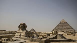 The pyramids at Giza are among the many tourist sites closed to the general public to stop the spread of coronavirus