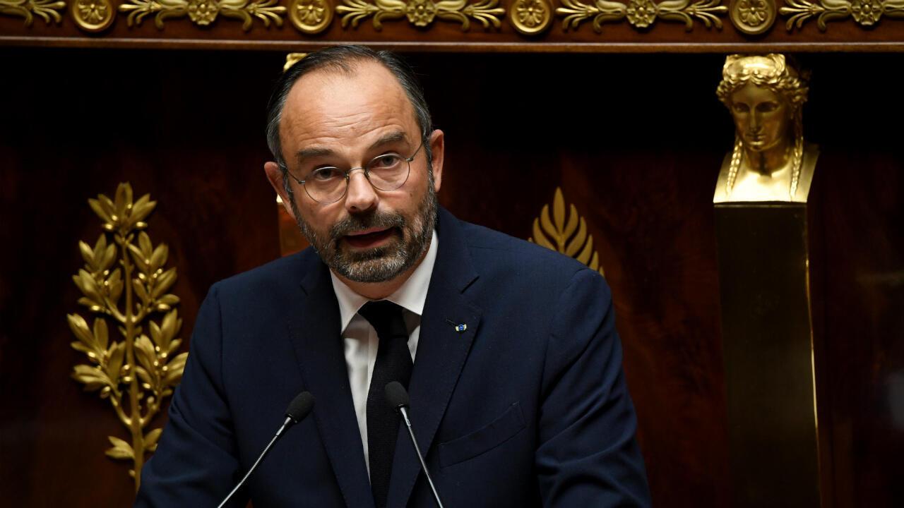 Le Premier ministre Édouard Philippe, le 7 octobre 2019, lors du débat sur l'immigration à l'Assemblée nationale.