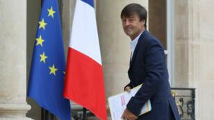 Nicolas Hulot, le ministre de la Transition écologique, à l'Elysée, le 5 septembre 2017.