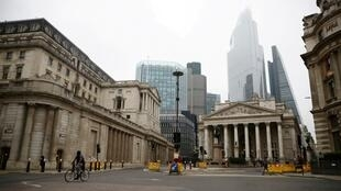 A general view of The Bank of England and the Royal Exchange as the spread of the coronavirus disease (Covid-19) continues, in London, Britain, on March 19, 2020.