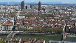 Vue générale de la ville de Lyon.