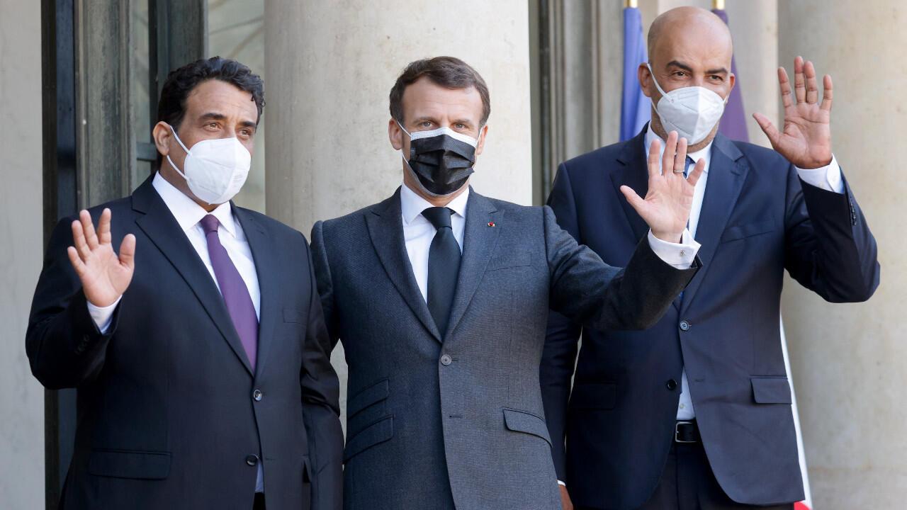 Macron Libye