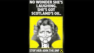 """Affiche du parti indépendantiste SNP lors de la campagne """"'It's Scotland's Oil' en 1972."""