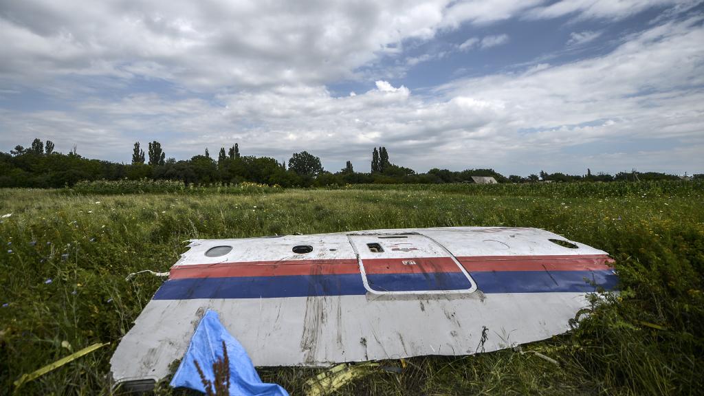 Imagen de archivo. Una pieza de la cabina del vuelo MH17 de Malaysia Airlines, en Grabove, en Ucrania, el 20 de julio de 2014.