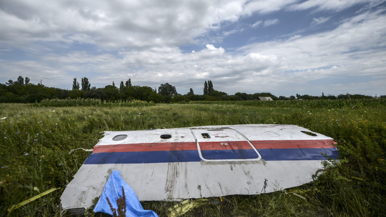 Remains of the Malaysia Airlines Flight MH17 aircraft that was shot down in Ukraine on July 20, 2014.