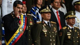 Los drones explotaron durante un acto en el que participaron el presidente Nicolás Maduro y militares en Caracas. 4 de agosto de 2018.