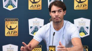 Rafael Nadal a annoncé son forfait pour le Masters 1000 de Paris.