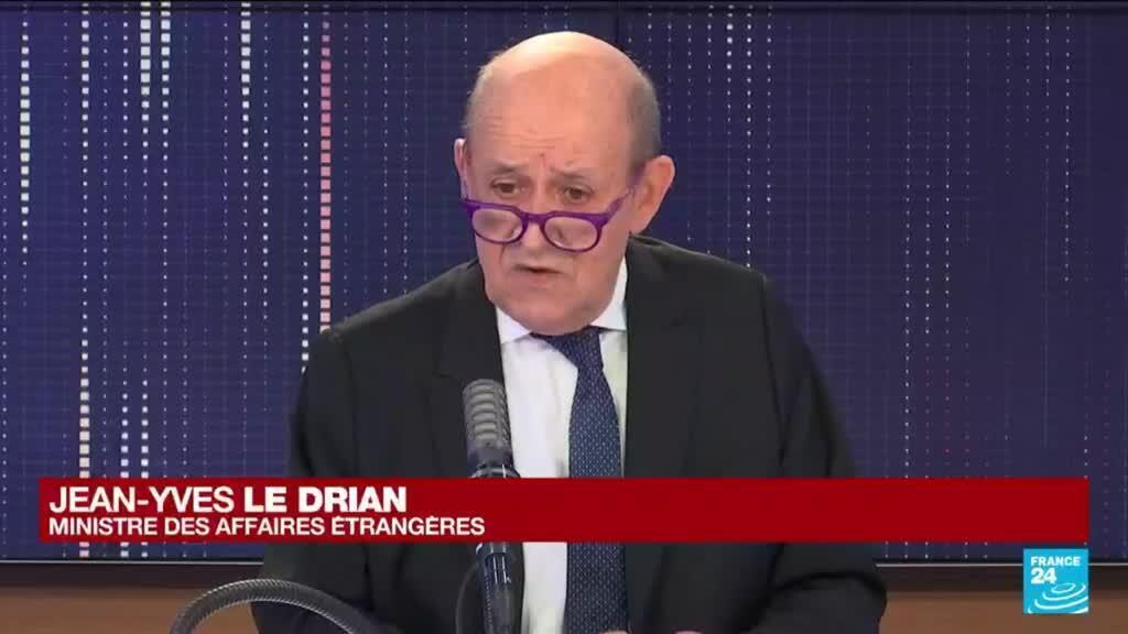 """2021-09-16 10:01 Contrats de sous-marins : la France dénonce un """"coup dans le dos"""" de l'Australie"""